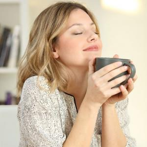 Lady with coffee